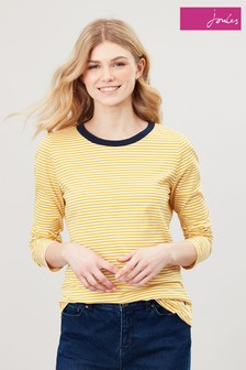 Joules Gold Selma Stripe Long Sleeve Top