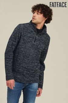 FatFace Midnight Burgess Half Neck Jumper