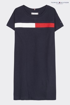 Tommy Hilfiger Blue Flag Jersey T-Shirt Dress