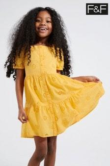 F&F Yellow Broderie Dress