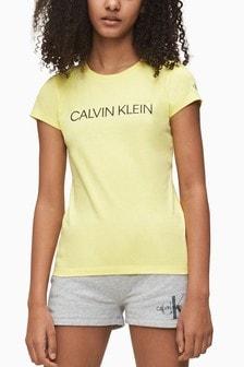 Calvin Klein Yellow Institutional Logo T-Shirt