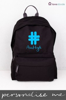 Personalised Hashtag Aim High Backpack Backpack by Loveabode
