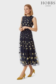 Hobbs Blue Bethany Dress