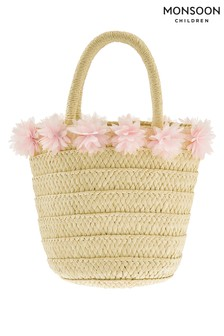 Monsoon Natural Fluer Flower Straw Bag