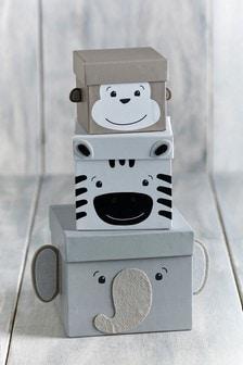 Safari Animal Stacking Gift Boxes