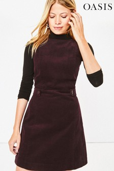 Oasis Purple Cord Shift Dress