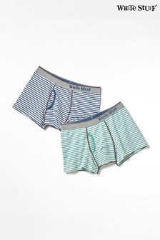 White Stuff Multi Stripe Double Boxers Pack