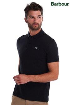 Barbour® Black Tartan Pique Polo