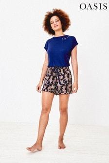 Oasis Blue Pineapple Pyjama Shorts