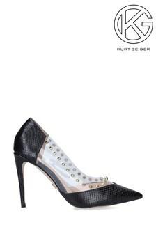 Kurt Geiger London Artie Black Heel Court Shoes