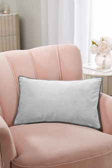 Grey/Grey Mila Twin Velvet Rectangle Cushion