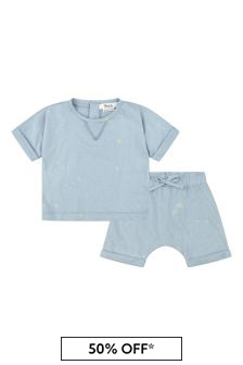 Bonpoint Baby Boys Blue Cotton Outfit