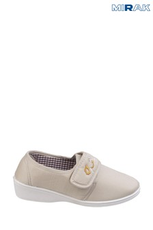 Mirak Cream Boost Touch And Close Canvas Shoes