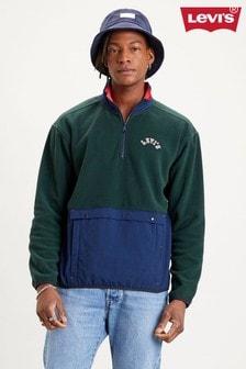 Levi's® Colourblock Quarter Zp Polar Fleece Top