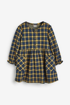 Check Long Sleeve Dress (3mths-7yrs)