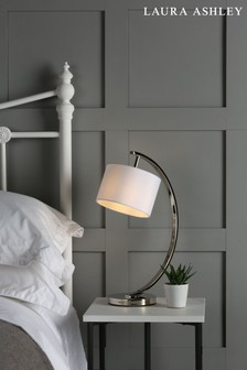 Chrome Noah Table Lamp With White Shade
