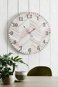 Extra Large Herringbone Wall Clock