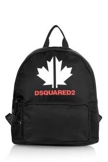 Kids Black Logo Bag