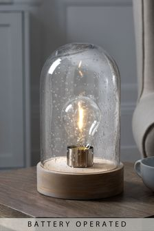 Cloche Battery Operated Ambient Lamp