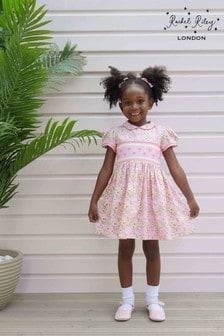 Rachel Riley Pink Daisy Smock Dress