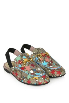 GUCCI Kids Girls Blue Sandals