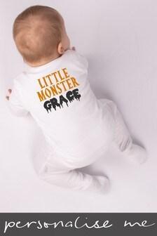 Personalised Little Monster Sleepsuit