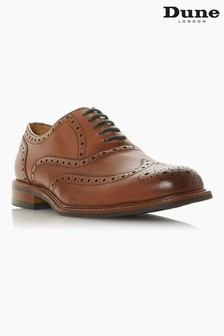 Dune London Pollodium Brown Leather Heavy Brogue Shoes