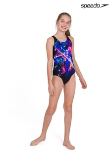 Speedo Black Digital Placement Splashback Swimsuit