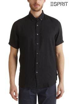 Esprit Black Short Sleeve Linen Shirt