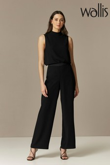 Wallis Black Wide Leg Trousers