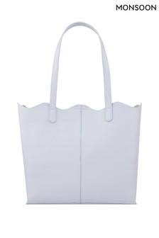 Monsoon Blue Jessie Scallop Edge Tote Bag