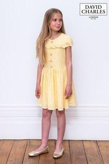 David Charles Yellow Special Dress