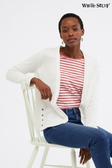White Stuff White Liliana Tape Cardigan