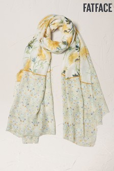 FatFace Natural Painted Meadow Scarf