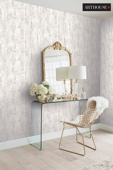 Arthouse White Mother of Pearl Wallpaper