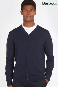 Barbour® Blue Cotton Cardigan