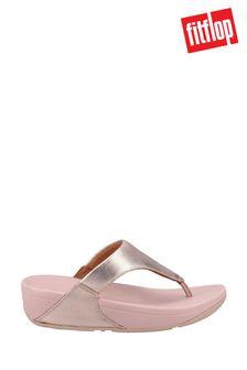 FitFlop Gold Lulu Metallic Leather Toe Post Sandals