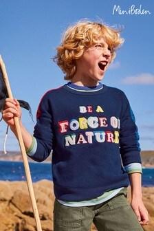 Boden Navy Rainbow Graphic Sweatshirt