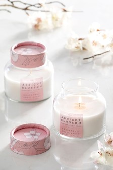Set of 2 Apricot Blossom Candles