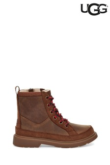 UGG® Brown Robley Kids Lace-Up Ankle Boots