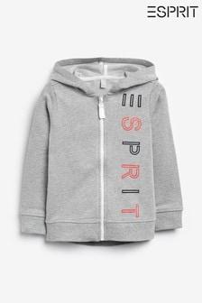 Esprit Grey Logo Zip Up Hoody
