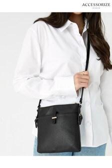 Accessorize Black Modern Messenger Bag