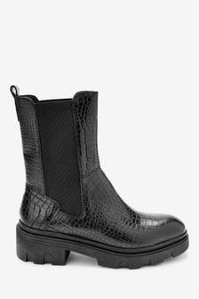 Forever Comfort® Super Chunk Croc Effect Boots