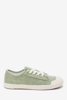 Retro Low Canvas Trainers