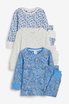3 Pack Snuggle Pyjamas (12mths-12yrs)