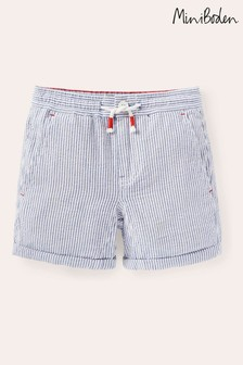 Boden Ivory Smart Roll-Up Shorts
