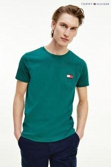 Tommy Hilfiger Green Circle Badge T-Shirt