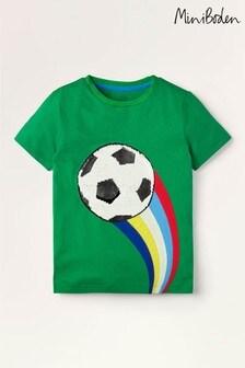 Mini Boden Green Sporty Sequin T-Shirt