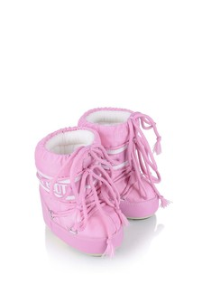 Baby Girls Pink Mini Nylon Snow Boots