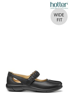 Hotter Shake Wide Fit Touch Fastening Mary Jane Shoes